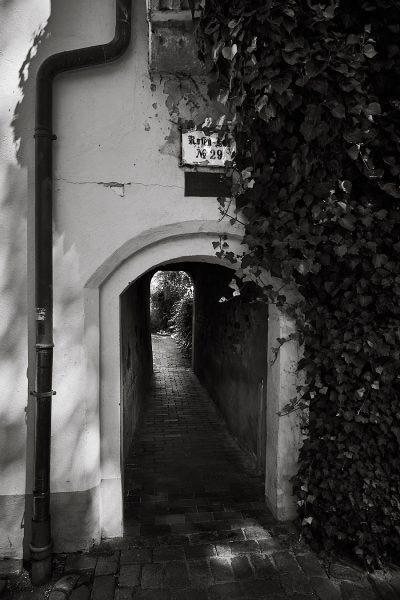 Eingang zum Rosen-Hof, An der Obertrave 29