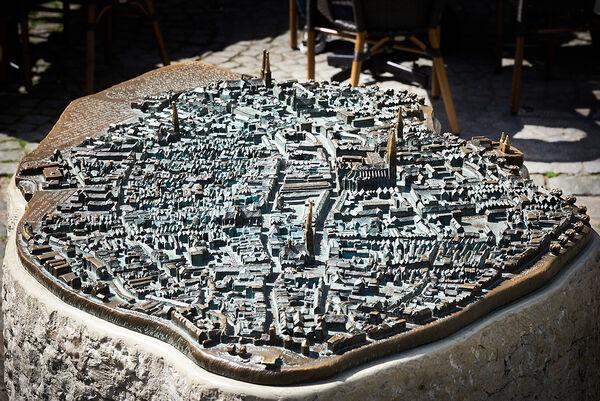 Bronzemodell der Lübecker Altstadtinsel